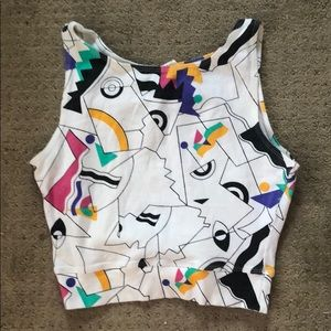 Abstract Crop Top